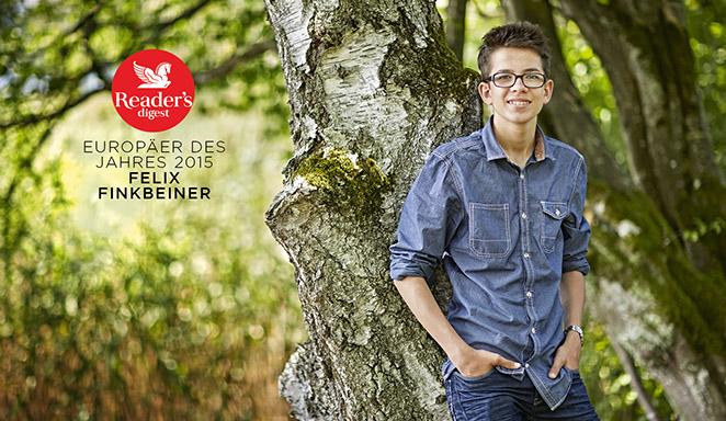 Reader's Digest | Heinz Hess | Mit neun Jahren pflanzte Felix Finkbeiner seinen ersten Baum.