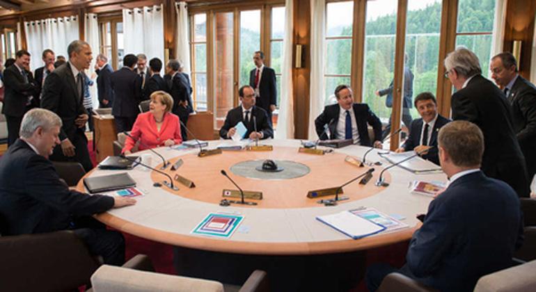 Kugler/bundesregierung.de   Die Staats- und Regierungschefs der G7 haben um die Klima-Formulierungen hart gerungen, findet Bundeskanzlerin Merkel.