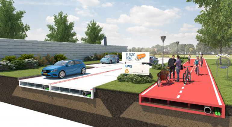 VolkerWessels introduces the PlasticRoad