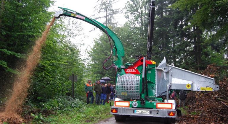 kommunal-erneuerbar.de   Hackschnitzel aus dem Murrhardter Wald