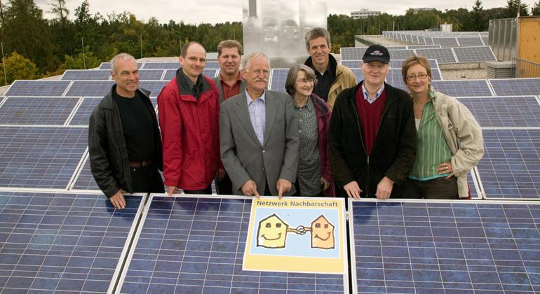 Netzwerk Nachbarschaft | Daniel Sommer | Die Nachbarn des ergon e.V. im Solarpark.