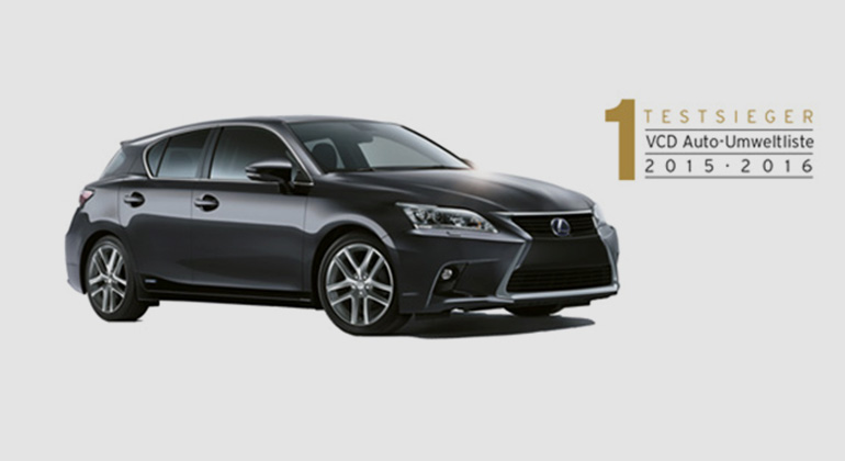 vcd.org   Platz eins des Gesamt-Rankings: der Lexus CT 200h, mit 8,08 Punkten.