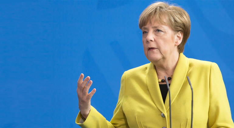 Depositphotos | palinchak | Angela Merkel nicht allein zu Haus!
