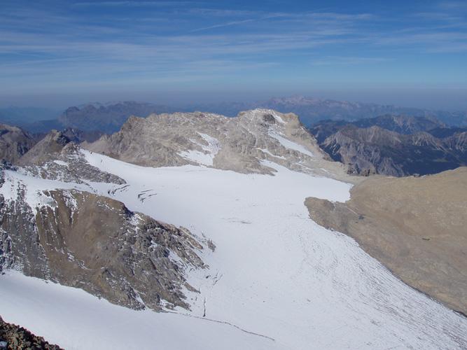 Alpenverein/Kaufmann   Brandner Gletscher 2003, aufgenommen von der Schesaplana