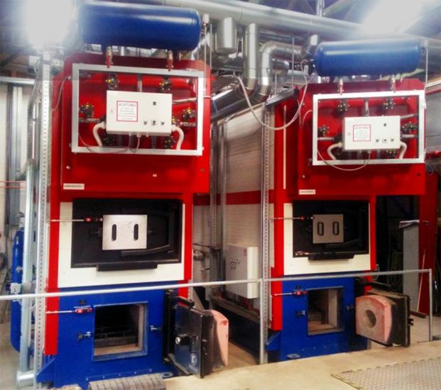 Energiegenossenschaft Erfurtshausen | Doppelheizkesselanlage für Hackschnitzel in Erfurtshausen