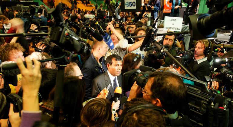 Adam Welz/Wikimedia Commons | Mohamed Nasheed war der Star der Weltklimakonferenz 2009 in Kopenhagen.