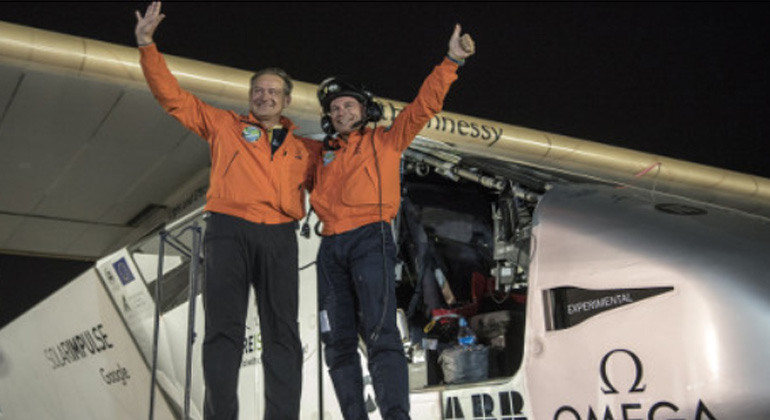 Cell of an achievement: Solar Impulse aircraft completes historic journey