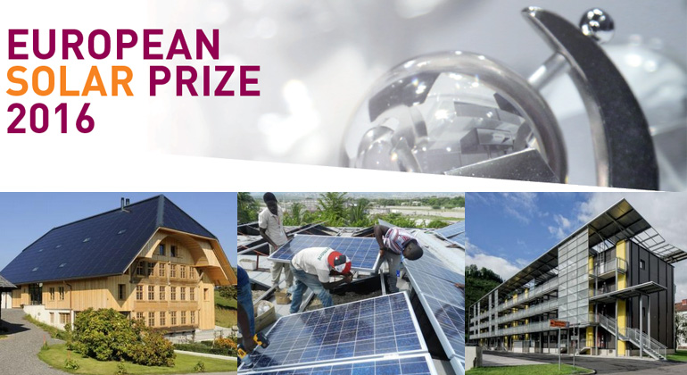 Award winners of the European Solar Prize 2016 honored in Barcelona
