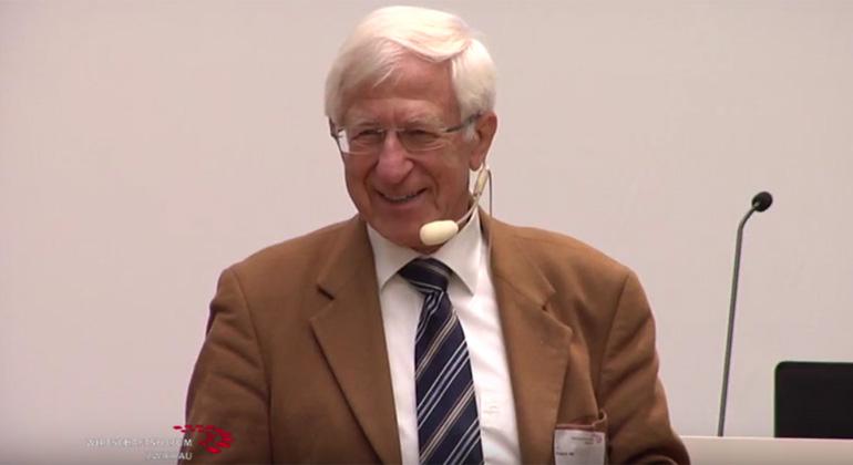 Franz Alt beim Wirtschaftsforum Zwickau
