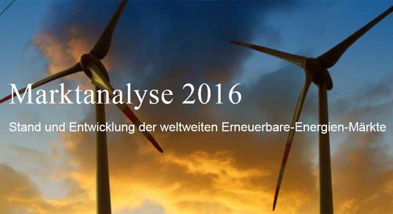 Stand und Entwicklung der weltweiten Erneuerbare-Energien-Märkte