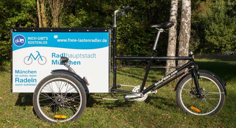 Radlhauptstadt München bietet Lastenrad zur kostenlosen Nutzung an