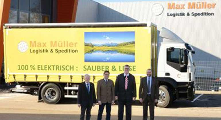 Erstmals Elektro-LKW in Süddeutschland im Einsatz