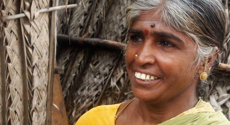 ANDHERI HILFE   Yamuna, Leiterin der Hausangestelltengewerkschaft in Chennai/Südindien