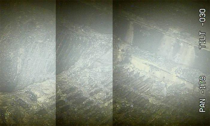 Tepco | Aufnahmen aus dem Inneren von Reaktor 2 zeigen möglicherweise Teile des geschmolzenen Brennstoffs.