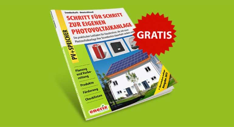enerix.de | 4. überarbeitete Auflage mit umfangreichen Speicher-Infos, Tipps zur Größenauslegung, Beispielberechnungen und Informationen zur Förderung. Alle wichtigen Informationen komprimiert auf 28 Seiten!