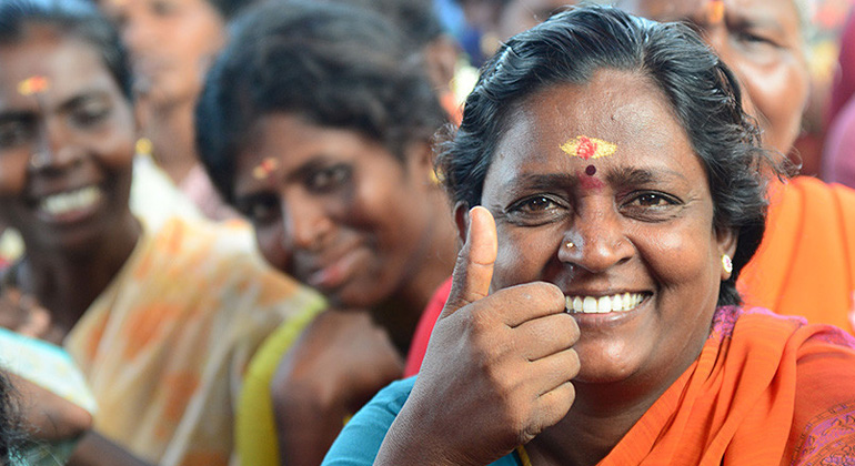 ANDHERI HILFE | Muni Aththa ist Mitglied der von ANDHERI HILFE und ihrer indischen Partnerorganisation Rural People Education and Development Centre geförderten Frauenbank in ihrem Heimatdorf Edaiyur im südindischen Tamil Nadu.