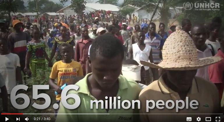 UNHCR's Global Trends Report 2016 | Screenshot