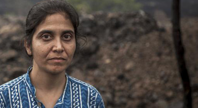 Ravi Mishra/Global Witness   Die indische Aktivistin Rinchin kämpft gegen Kohlekonzerne und für Landrechte.