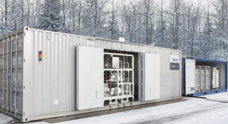 VTT | Die Pilotanlage des Projekts Soletait in Finnland