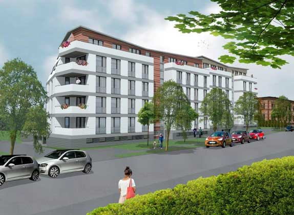 energetikhaus100.de | FASA AG/ Beier & Hirsack Planungsgesellschaft mbH | Solardomizil Chemnitz Vorderansicht