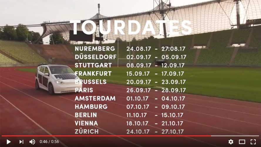 Sono Motors GmbH   Tourdaten