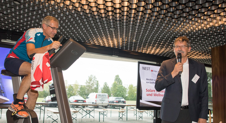 Empa   Gian Vaitl   Opening of the Solar Fitness & Wellness Unit
