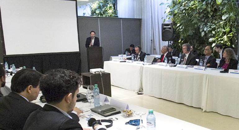 IRENA | Mr. Sebastian Kind, Undersecretary of Renewable Energy at Argentina's Ministry of Energy and Mining, delivers opening remarks at the workshop