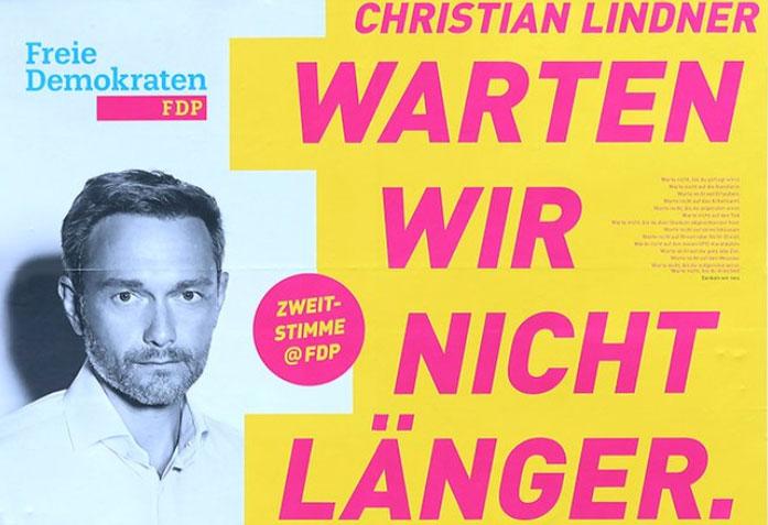FDP - Wahlplakat 2017
