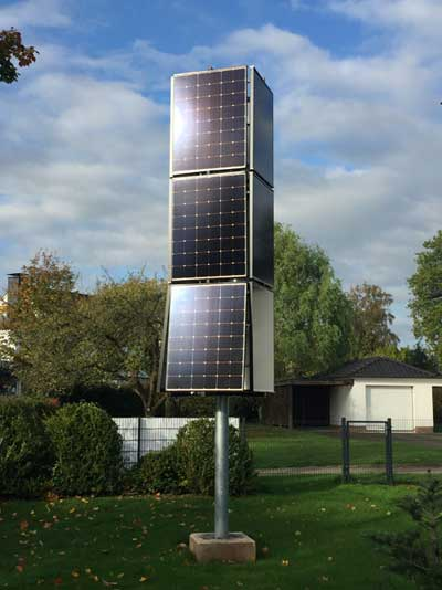 sharp.de   Der Solar-Tower ist die ideale Lösung für Kunden mit eingeschränktem Platzangebot, die ihr Dach nicht mit Solarzellen bestücken können oder möchten. Aber auch bestehende Photovoltaikanlagen auf dem Dach lassen sich durch den Tower ergänzen.