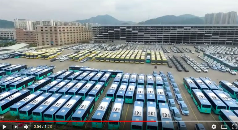 BYD Delivering the Worlds Largest Electric Bus Fleet
