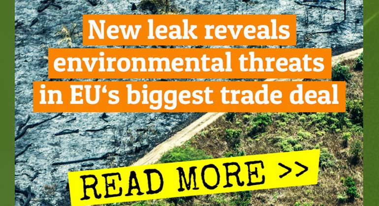 Greenpeace enthüllt: Handelsabkommen mit Südamerika gefährdet Verbraucherschutz
