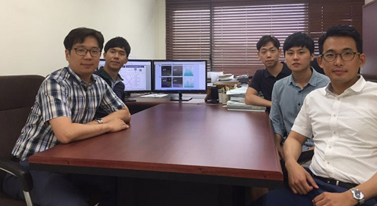 Korea Advanced Institute of Science and Technology (KAIST) | Professor Jung (far right) and his team