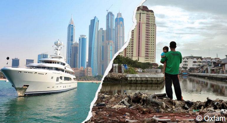 OXFAM | 82 Prozent des im vergangenen Jahr erwirtschafteten Vermögens ist in die Taschen des reichsten Prozents der Weltbevölkerung geflossen.