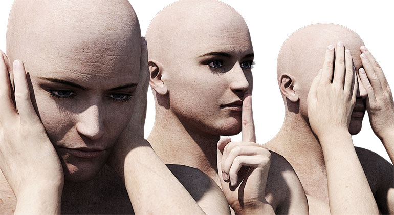 pixabay.com | Mysticsartdesign | Nichts hören, nichts sehen, nichts sagen: Hinwegsehen über Schlechtes