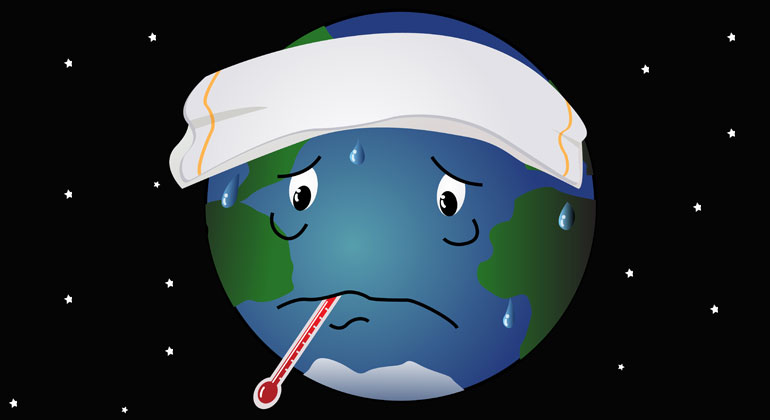 Die Erde hat Fieber