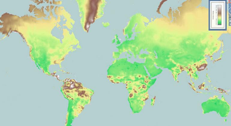 Tomasz Stepinski/ClimateEx | Weltkarte: Klimawandel wird sichtbar gemacht