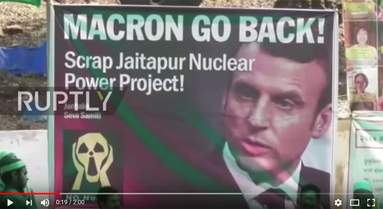 www.ruptly.tv | Screenshot | India: Protesters march against proposed French-Indian nuclear project