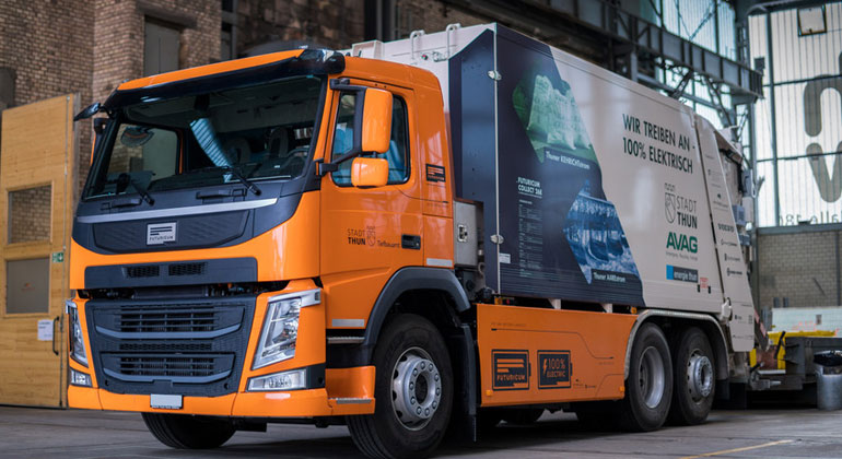 thun.ch | Die Stadt Thun setzt als Pionierin ein elektrisch betriebenes Kehrichtfahrzeug ein