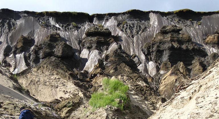 UHH/CEN/I.Preuss | Permafrost in the Siberian Lena Delta, where some of the samples were taken.