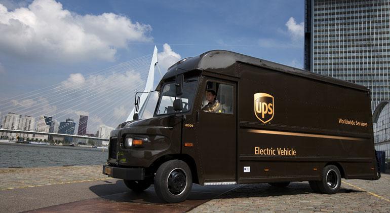 UPS / Eines der Elektrofahrzeuge von UPS