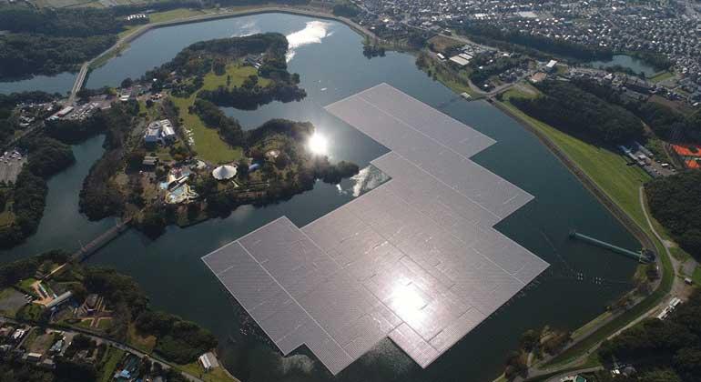 kyocera.de | KYOCERA - 13,7-MW-Solarkraftwerk auf dem Stausee am Yamakura-Damm