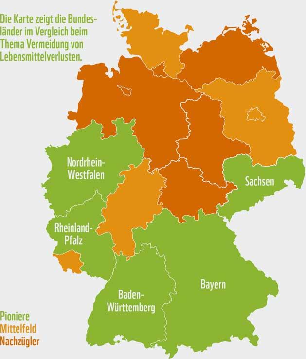 WWF Deutschland   Neben den Pionieren gibt es eine Reihe von Bundesländern, die zum Mittelfeld gehören. Hierzu gehören Berlin, Brandenburg, Hessen, Saarland und Schleswig-Holstein. Ferner gibt es ein paar Nachzügler, die sich erst seit Kurzem auf den Weg gemacht haben oder bislang kaum Aktivitäten durchgeführt haben. Dazu gehören Bremen, Hamburg, Mecklenburg-Vorpommern, Niedersachsen, Sachsen-Anhalt und Thüringen.