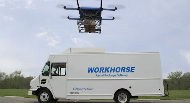 Workhorse Group Receives Patent for HorseFly™ Delivery Truck-Launched Drone Package Delivery System
