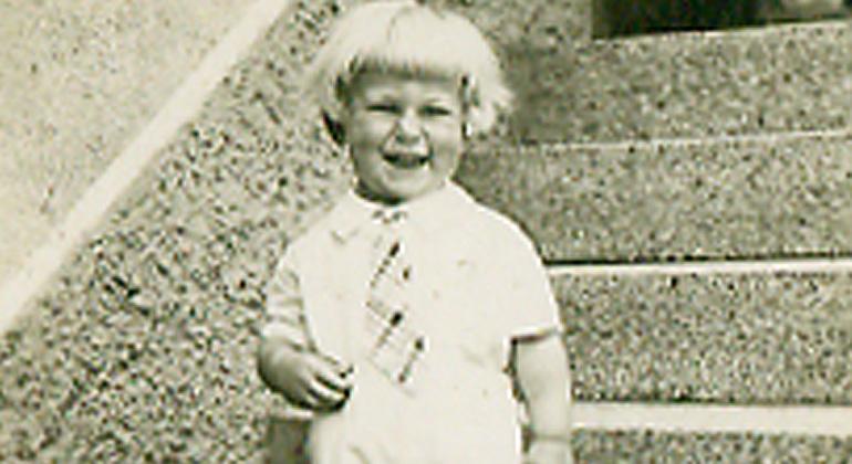 Franz Alt mit drei Jahren