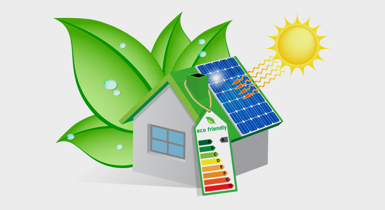 Renovated and energy efficient buildings are a must for a green future, and solar heat is a solution