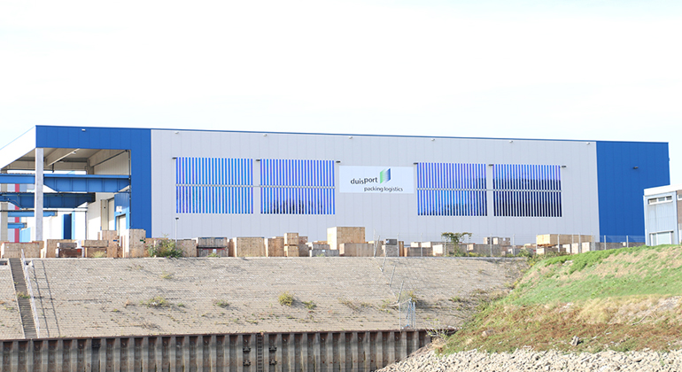 duisport | Organic photovoltaic facade - port of Duisburg