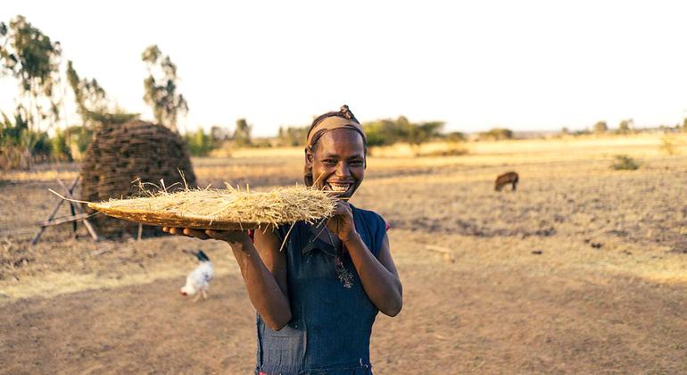 Henrik Wiards | Eine Frau bei der Feldarbeit im Dorf Sodo, Äthiopien