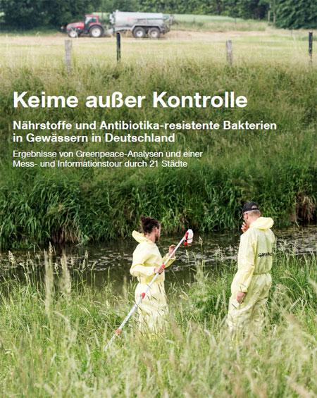 Greenpeace.de | Multiresistente Keime finden sich in vielen deutschen Gewässern. Oberflächengewässer sind ebenso wie private Brunnen vielfach mit Nitrat belastet. Das ist das Ergebnis der Analyse von Wasserproben, die Greenpeace von Mai bis September 2018 in Deutschland genommen bzw. untersucht hat.