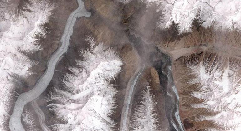 NASA   Khurdopin-Gletscher in Pakistan
