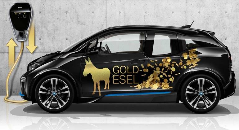 BMW i3 Elektroautos zur Stabilisierung des Stromnetzes